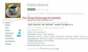 Home page updates